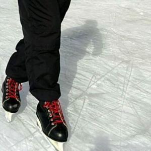 溶けないうちにアイススケート