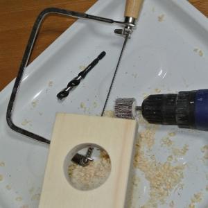 ドリルで垂直に穴を開ける道具を作る!