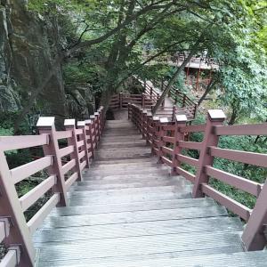 浦項ポハンの内延山12瀑布散策、⑥宝鏡寺に戻る