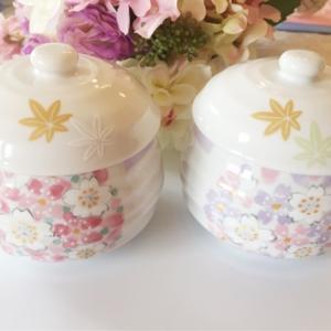 桜柄の茶碗蒸し碗