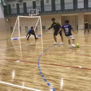 ジュニアユースフットサルU15が新設された中学校体育館で活動スタート!!
