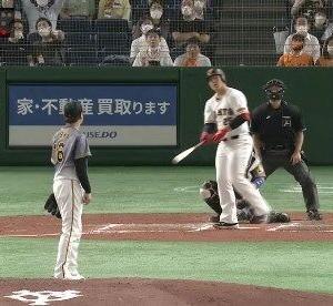 【GIF】巨人岡本の確信ホームラン、カッコよすぎるwwwwww