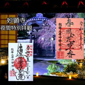 【京都】日蓮宗大本山「妙顕寺」の夜間拝観でいただいたステキな【限定御朱印】