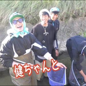 【家キャンプ】近くの川で希少生物発見!!【釣りよかでしょう。】