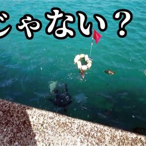 【驚愕】防波堤で投げ釣りをしていたら爺ちゃん掛かって浮いてきた【釣りスギ四平】