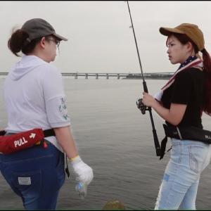 大阪の女同士で釣りするとこうなる【マルコス 釣り名人への道】