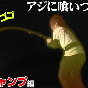 ナイトゲームで強烈にしなる竿と響き渡るドラグ音!釣りキャンプ編 #02【釣りせんば】
