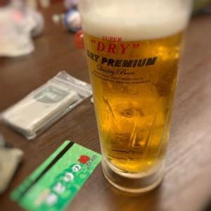 温泉の後のビール