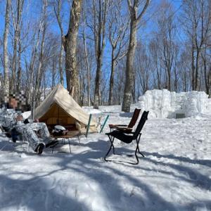 岩岳スキー場雪中キャンプ