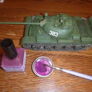 1/35 ソビエト戦車 T-55A ウェザリングカラー フィルタ・リキッド レイヤーバイオレット