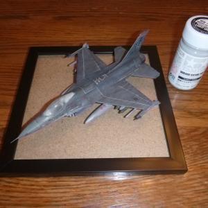 ジオラマ:滑走路 タミヤ 1/72 F-16ファイティング・ファルコン