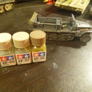 ドイツ陸軍 1トンハーフトラック sd.kfz.10 ウェザリング ドライブラシ