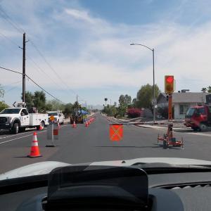 道路工事用の簡易信号機