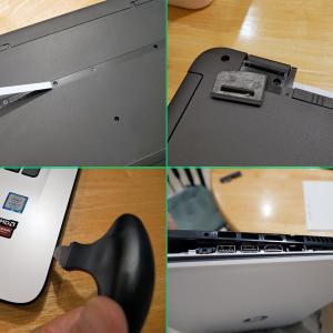HPのノートはアップグレードしにくい。