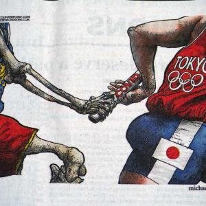 なかなか的を得たオリンピック風刺画
