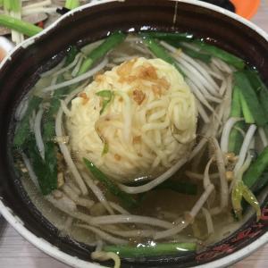 阿六切仔麺で家族晩餐