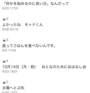 うきょうのブログ 2019. 9月の振り返り