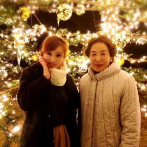 ☆りぃ母サプライズBirthday星のや軽井沢⑧イル・ソーニョともみの木広場ファイヤープレイス