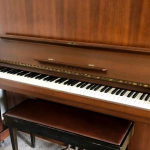 [ヤマハの中古ピアノの驚くべき買取価格] 55年前のアップライトピアノU5Bを売却