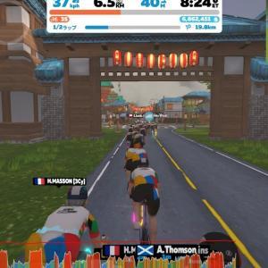 [Olympic Virtual Series: Chase Race (B)] ダブルヘッダー2戦目はマクリ島のレース - 1戦目最下位のリベンジ挑戦