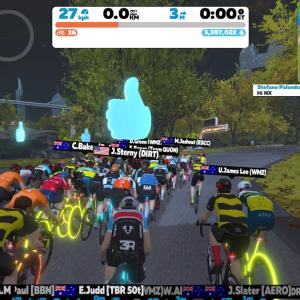 [2021 AusCycling Club esport Series (B)] 自己ベストに近い走りで。。。105位とは何故に??