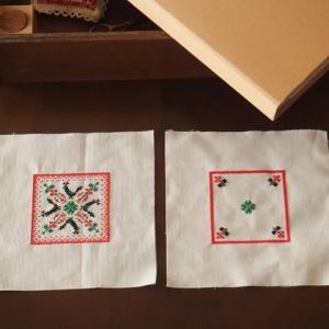 刺繍とお菓子の型