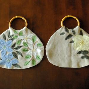 刺繍 - Flower Applique Bag :持ち手