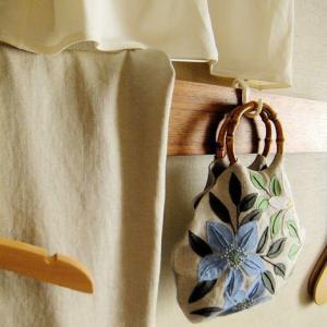 刺繍 - Flower Applique Bag: 完成をよろこぶ
