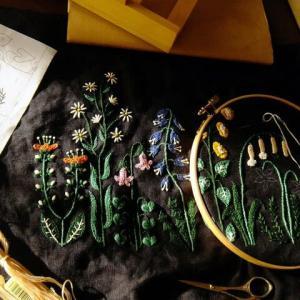 刺繍 - garden :途中