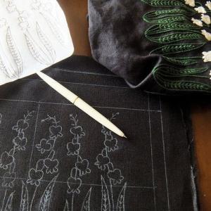 刺繍 - Lily of valley : お揃い
