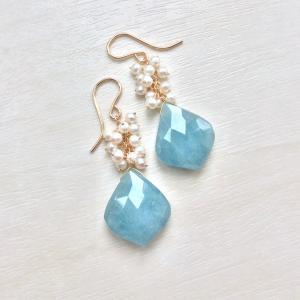 アクアマリンと淡水真珠