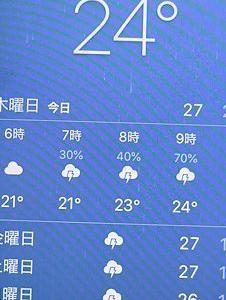 連日目まぐるしいお天気で・・・。