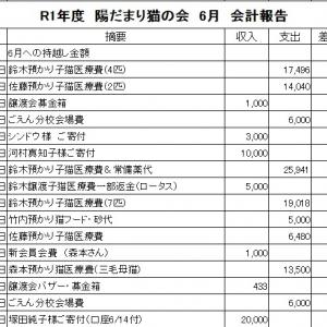 R1年  6月  会計報告