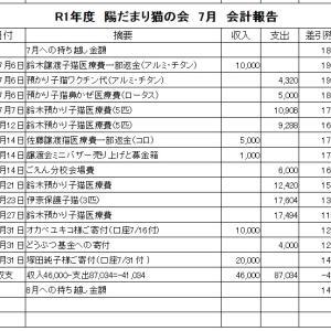 R1年 7月会計報告