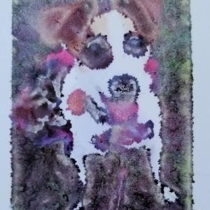 クリアなティシュケースをフラワーで飾る(25)