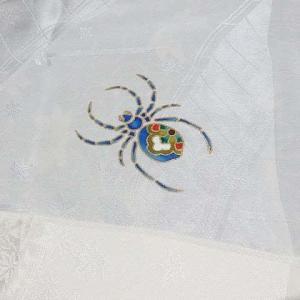 帯揚げ 蜘蛛
