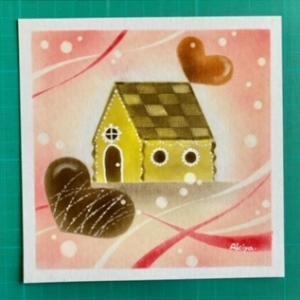 ココぱすさん パステル画  チョコレートハウス