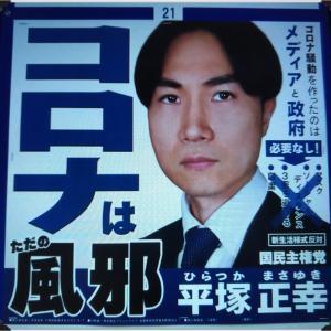 インパクトのあるポスター【平塚正幸さん】東京都知事選挙ニコ生 ネット演説会