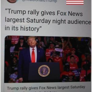 歴史上最高の視聴者数を記録 トランプ大統領演説集会 Trump holds 'Make America Great Again!' rally in Tulsa