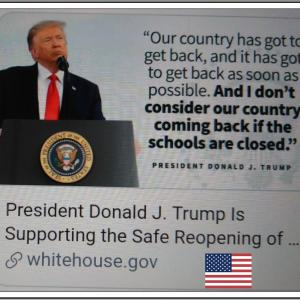 【学校を安全に再開する】 National Dialogue on Safely Reopening America's Schools