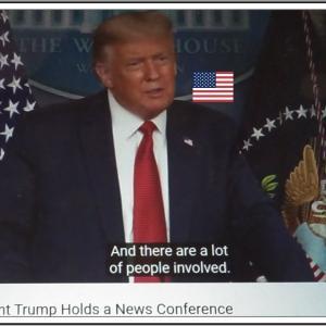 今世紀の政治犯罪「彼らは捕まった」President Trump Holds a News Conference The White House   08/10/20