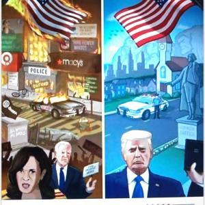 【最も重要なポイント】Mr.Donald J.Trump wins=America wins, If Biden wins = China wins,