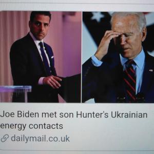 【致命傷となる証拠のEメール】ウクライナ疑惑【Joe Biden met son Hunter's Ukrainian energy contacts】Dailymail.co.UK