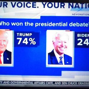 第2回テレビ討論会【Mr.Trump WON BIG!!】 アメリカ大統領選挙2020 トランプ大統領圧勝!!