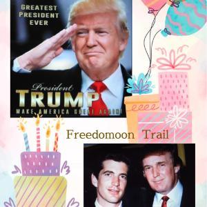 USA: Supporters mark Trump's 75 bday at Trumparilla boat parade in San Diego 2021/06/14