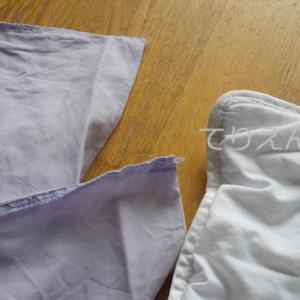 布団と布団カバー、フランスではお目にかかれなかったものを自作。