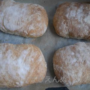 秋のパンまつり。イタリアの茶畑もといチャバタを作る。