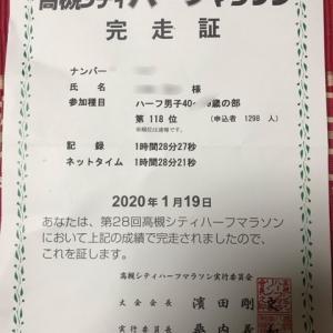 【結果】高槻シティハーフマラソン
