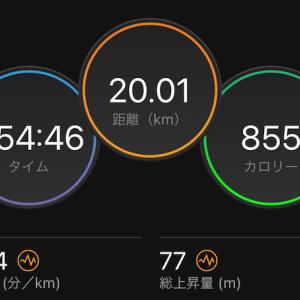 フルマラソンに向けた練習〜20kペース走(*^^*)