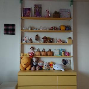 *末っ子部屋のラブリコで作った仕切り壁を撤去&移動して設置*